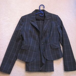 Express Black and Gray Business Suit